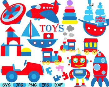Circus Old Cars Toy Cutting files svg clip art car race fun party toys -152S