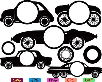 Circus Old Cars Toy Cutting files svg clip art cars car race fun party toys -72S