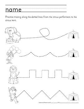 Circus Packet: Preschool & Early Elementary Printables & Activities