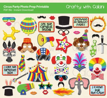 Circus Party Booth Prop, Circus theme party Photo Booth Prop