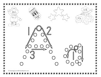 Circus Practice Tracing Dot Sheets