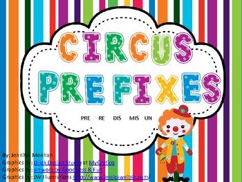 Circus Prefixes Game/Center