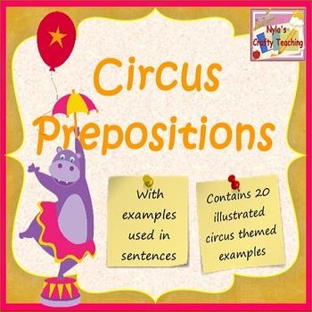 Preposition Cards - Circus Theme