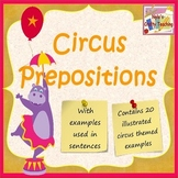 Preposition Cards - Circus Theme