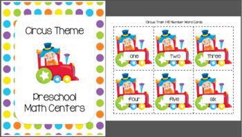 Circus Preschool Math Centers