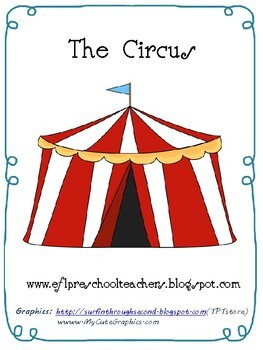 Circus Printable Book for EFL Learners
