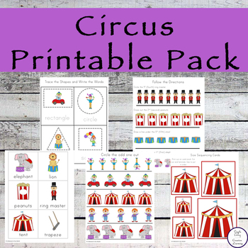 Circus Printable Pack ~ QLD Font
