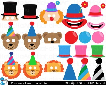 Circus Props Digital Clip Art Personal Commercial Use 46 images cod167
