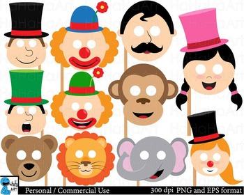 Circus Props Digital Clip Art Personal Commercial Use 46 i