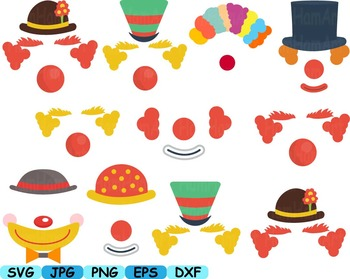 Circus Props Toys clip art party photo booth clown Carnival kawaii mask -109s