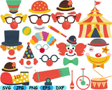 Circus Props Toys clip art party photo booth clown Carniva