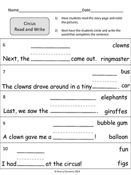 Circus Read and Write