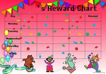 Circus Reward Chart