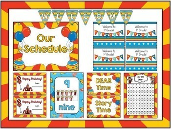 Circus Room Theme Classroom Decor {Editable}