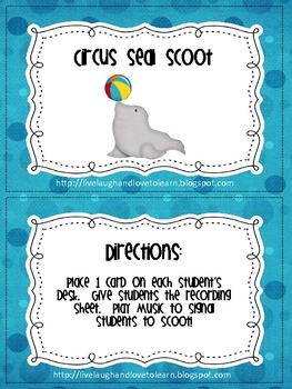 Circus Seal Money Scoot