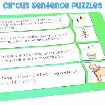 Circus Sentence Puzzles