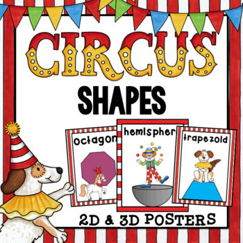 2D and 3D Shapes- Circus Theme