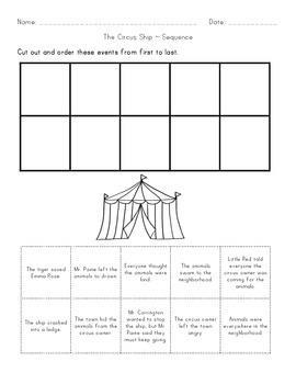 Circus Ship Book Activities