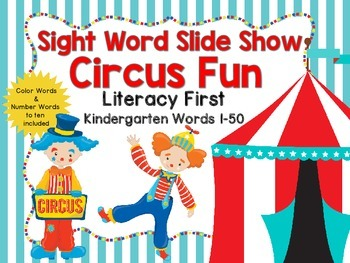 Sight Word Slide Show, Literacy First, Kindergarten Words