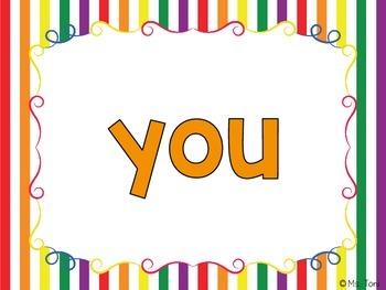 Sight Word Slide Show, Literacy First List A, Words 1-50, Circus Fun