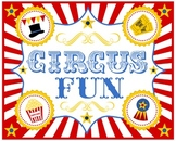 CIRCUS BULLETIN BOARD SIGN (20x16 inches)