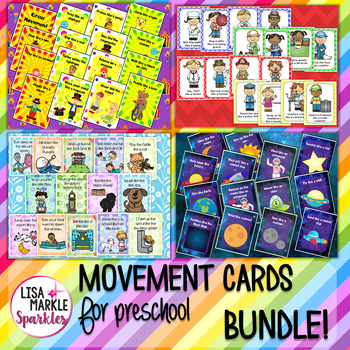 Circus Space Nursery Rhyme Community Helper Movement Cards Brain Break