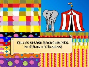 Circus Splash Backgrounds