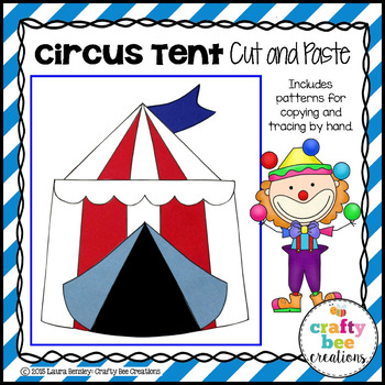 Circus Tent Cut and Paste