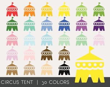 Circus Tent Digital Clipart, Circus Tent Graphics, Circus Tent PNG