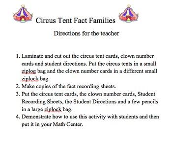Circus Tent Fact Families