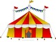 Circus Tent Themed Data Wall for Kindergarten
