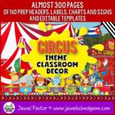 Circus Theme Classroom Decor EDITABLE (Circus Classroom Th