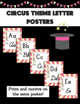 Circus Theme Alphabet Posters
