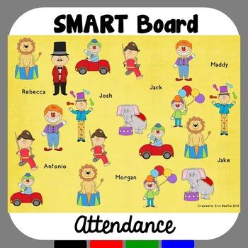 SMART Board Attendance: Circus