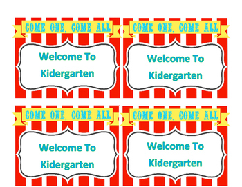 Circus Theme Back To School Pack