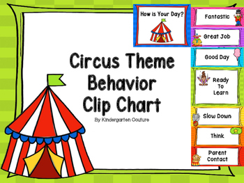 Circus Theme Behavior Clip Chart