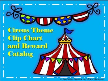 Circus Theme Behavior Clip Chart and Reward Catalog