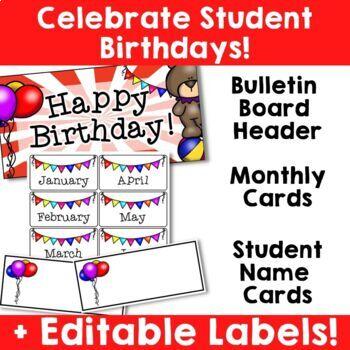Circus Theme: Birthday Resources (Editable)