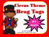 Circus Theme Brag Tags {editable}