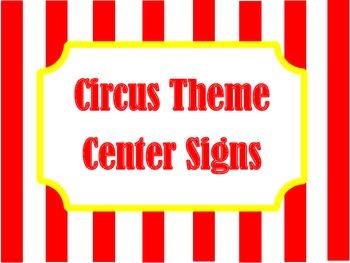 Circus Theme Center Signs