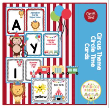 Circus Theme Circle Time Cards