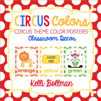 Circus Theme Classroom Colors {Classroom Decor Posters}