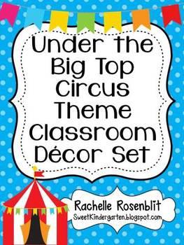 Circus Theme Classroom Decor Set