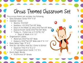 Circus Theme Classroom Display