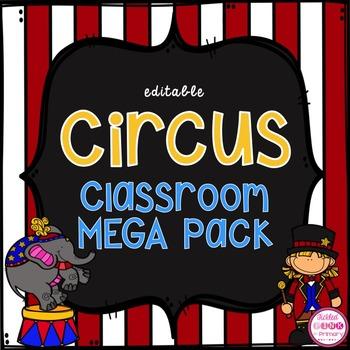 Circus Classroom Decor MEGA Bundle (editable)