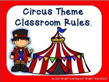 Circus Theme Classroom Rules (editable)