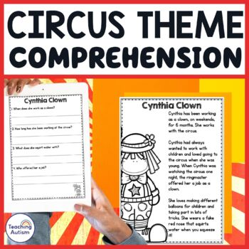 Circus Reading Comprehension Passages and Questions