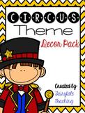 Circus Theme Decor Pack