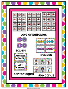 Classroom Decor Circus Theme (Circus Posters, Signs, Labels and Banners)