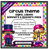 Classroom Decor Circus Theme (Circus Posters, Signs, Label